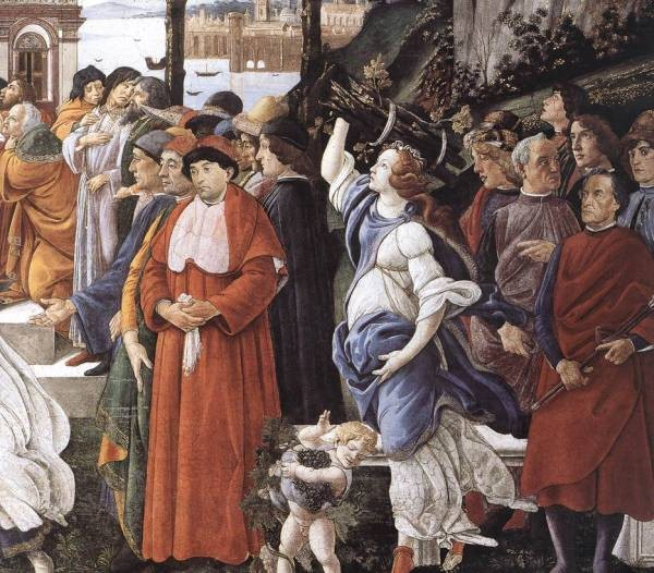 Botticelli The Temptation of Christ detail 3